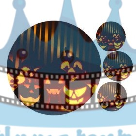 Halloween - Tekvice - jedlý obrázok / oblátka na tortu