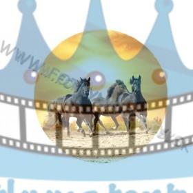 Kone so západom slnka - jedlý obrázok/ oblátka na tortu