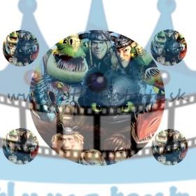 Train your dragon 2/ Ako vycvičiť draka 2 - jedlý obrázok/ oblátka na tortu