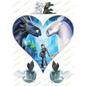 NOVINKA! How to Train your dragon / Ako vycvičiť draka 3 - srdce