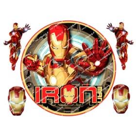 Jedlý okrúhly obrázok Ironman