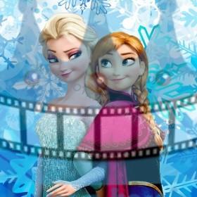 FROZEN - Elsa a Anna - ľadové kráľovstvo - jedlá tortová oblátka