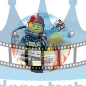 Lego City Požiarnici - jedlý obrázok / oblátka na tortu