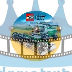 Lego City Farmár - jedlý obrázok / oblátka na tortu