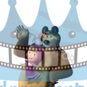 Máša a medveď I. - jedlý obrázok/ oblátka na tortu