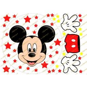 Mickey mouse na tortu okrúhly jedlý obrázok