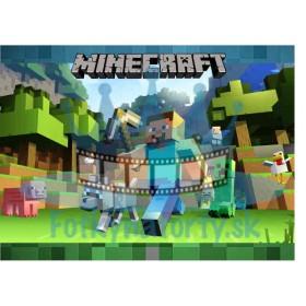 Minecraft - jedlý obrázok na tortu