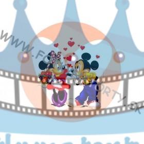 Minnie a Mickey Srdce - jedlý obrázok/ oblátka na tortu