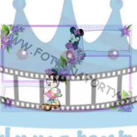 Minnie 2x fotorámik 2x text - jedlý obrázok/ oblátka na tortu