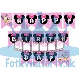 Minnie 1 rôčik - jedlé obrázky HAPPY BIRTHDAY