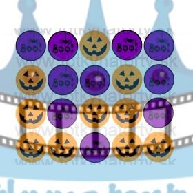 Halloweenske dekorácie na muffiny - 20 ks - jedlé dekorácie na zákusky, medovníčky a iné dobrôtky