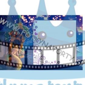 Na vlásku Rapunzel Fotorámik - jedlý obrázok/ oblátka na tortu