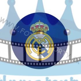Logo FC Real Madrid okrúhly jedlý obrázok/ oblátka na tortu