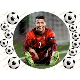 Futbalový jedlý obrázok - Cristiano Ronaldo - kruh