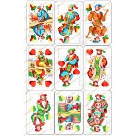 Jedlý obrázok - Sedmové karty na vystrihovanie (9 kusov)