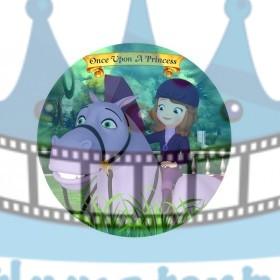 Princezná Sofia na koni - jedlá tortová oblátka