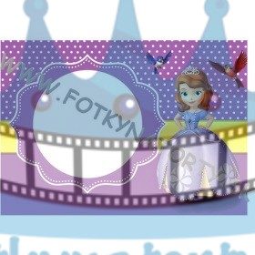 Princezná Sofia Fotorámik - jedlý obrázok/ oblátka na tortu