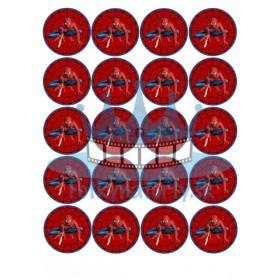 Spiderman - jedlé obrázky a oblátky na muffiny, medovníčky, cupcakes