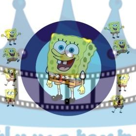 Sponge bob okrúhla tortová oblátka / jedlý obrázok na tortu