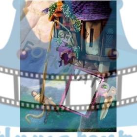 Na vlásku Rapunzel vo veži Fotorámik - jedlý obrázok/ oblátka na tortu