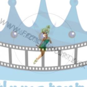 Tinker Bell víla - okrúhly jedlý obrázok/ oblátka na tortu