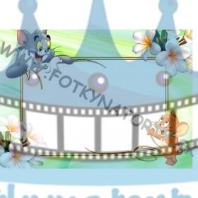 Tom a Jerry Fotorámik - jedlý obrázok/ oblátka na tortu