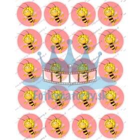 Včielka maja na cupcakes 20 ks