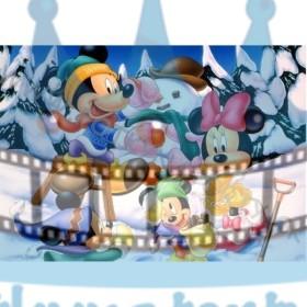 Mickey&Minnie Vianoce  - jedlý obrázok/ oblátka na tortu