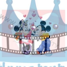 Zamilovaná - MICKEY&MINNIE II. - jedlý obrázok/ oblátka na tortu