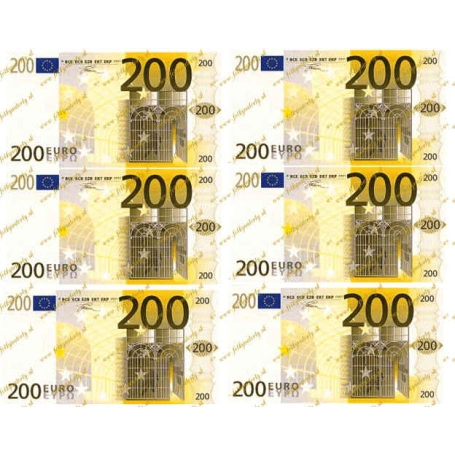 Jedlé peniaze 200 eurobankovky