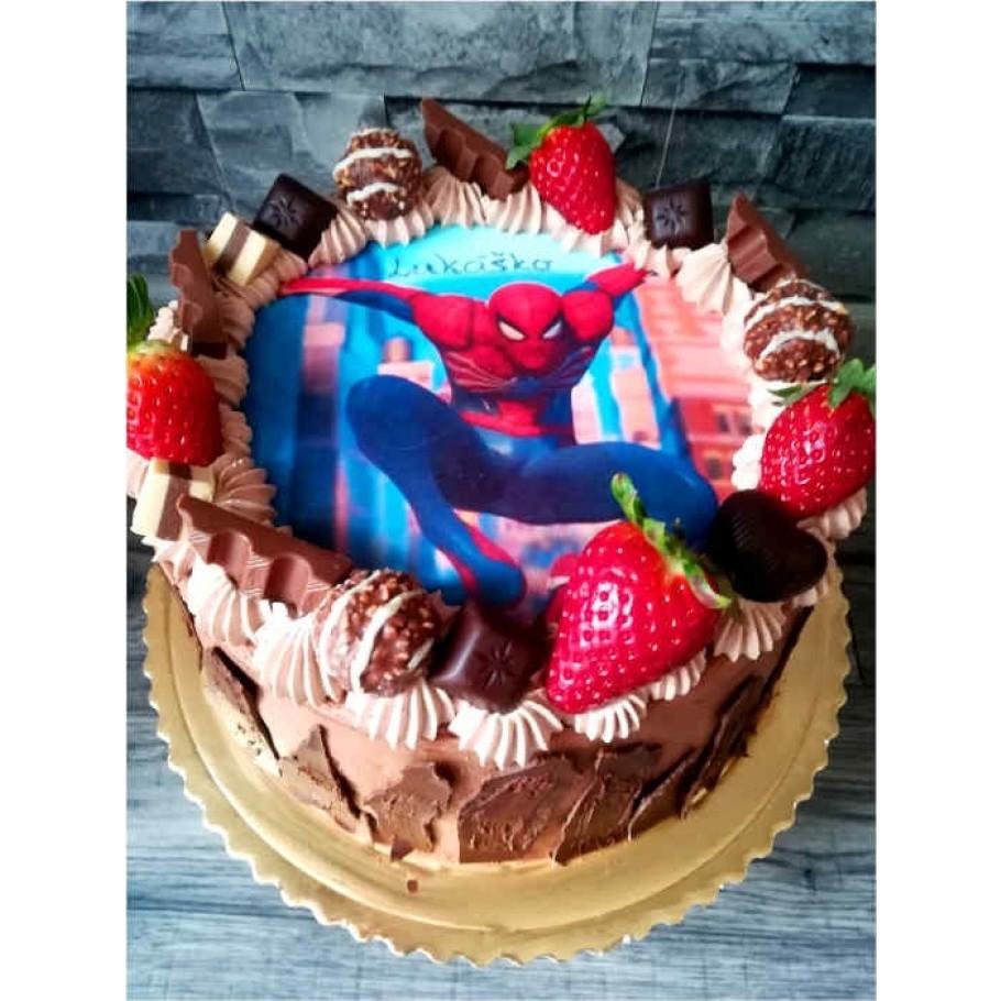 Jedlý obrázok Spiderman na tortu