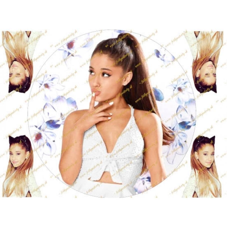 Novinka! Jedlý obrázok na tortu - Ariana Grande - kruh s dekoráciami