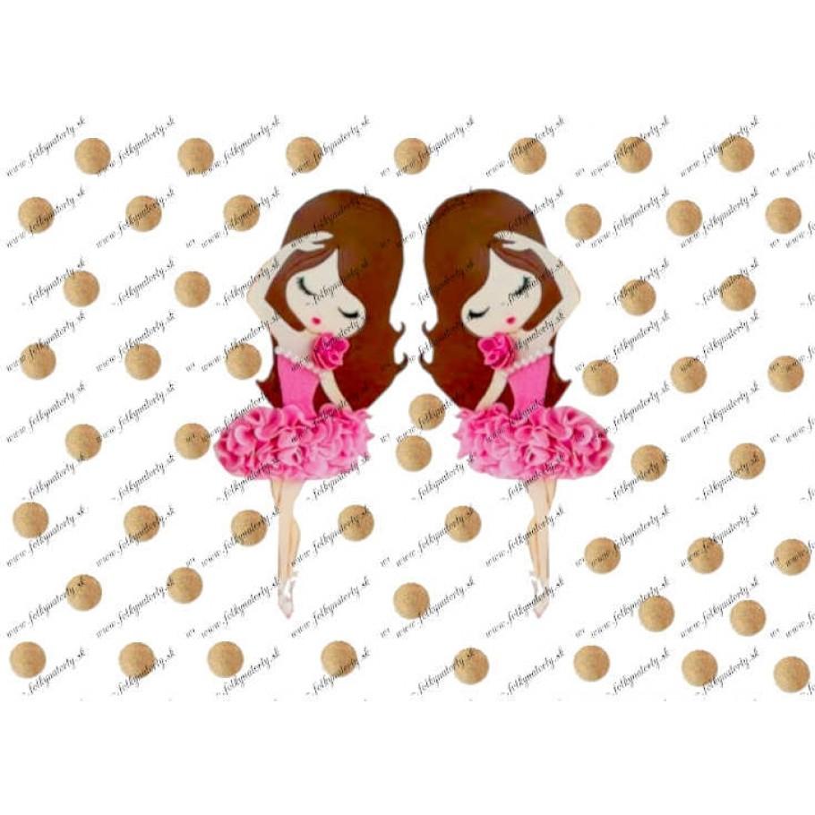 Jedlé baletky na tortu so zlatými bodkami