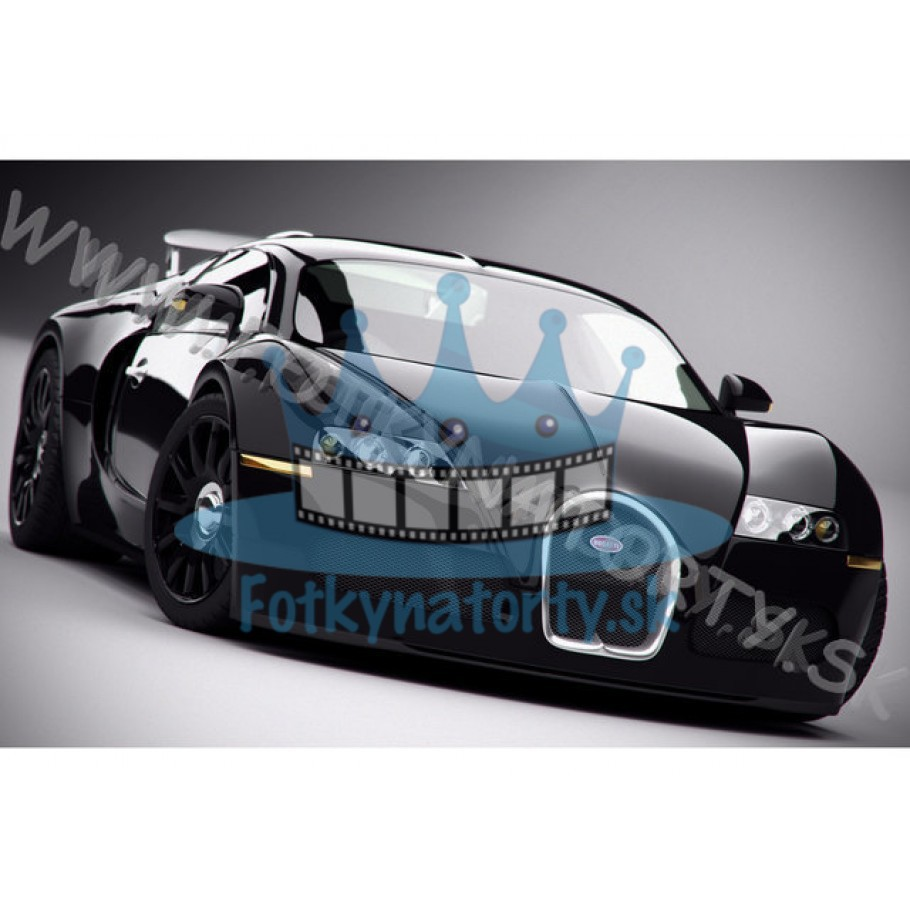 Bugatti Veyron - jedlý obrázok / oblátka na tortu