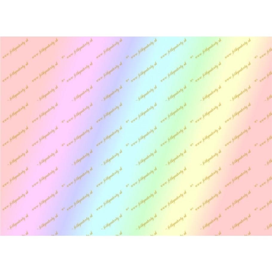 Dúhový jedlý papier na tvorbu jedlých tortových dekorácií
