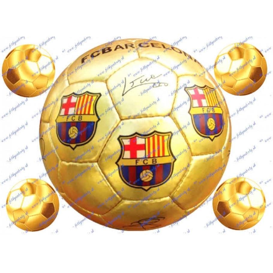 Futbalová lopta FCB na tortu- kruh