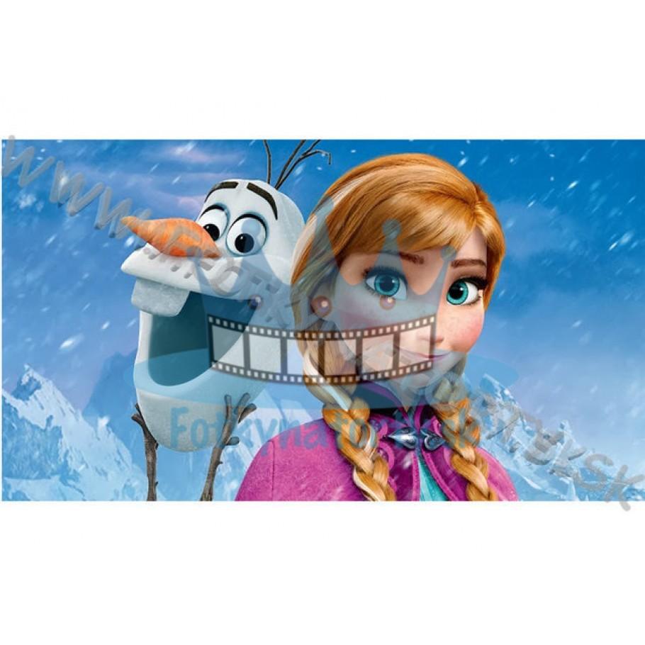 Ľadové kráľovstvo (Frozen) Anna&Olaf - Elsa a Anna Frozen ľadové kráľovstvo - jedlá tortová oblátka / na tortu / jedlý tortový obrázok/ Fotky na torty
