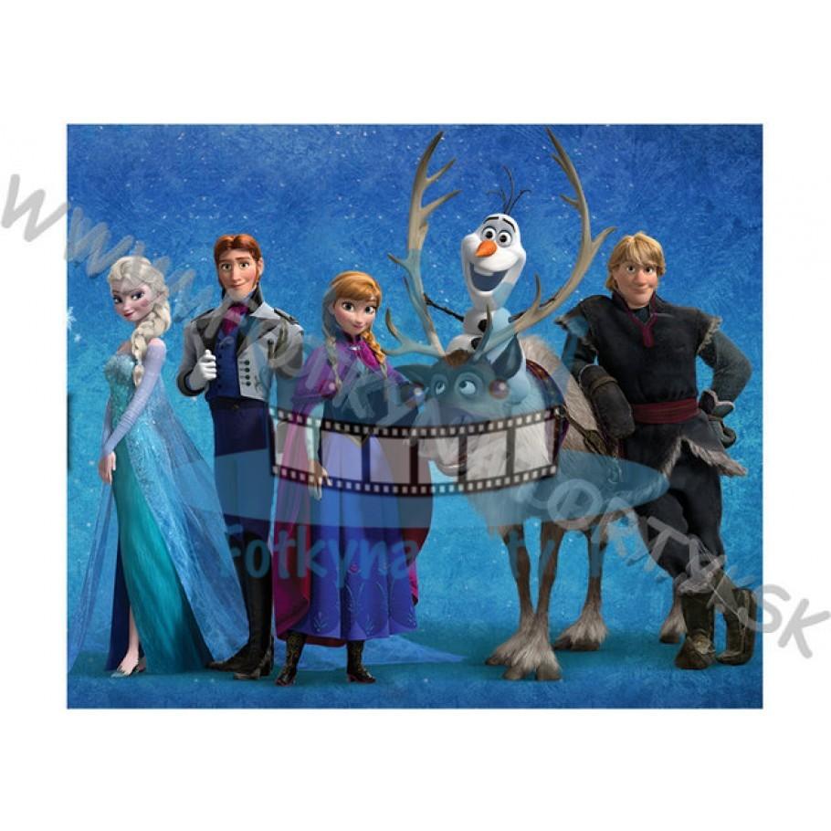 FROZEN - Ľadové kráľovstvo - jedlý obrázok / oblátka na tortu / Olaf / Elsa / Anna / Sven / Fotky na Tortu / jedlé obrázky