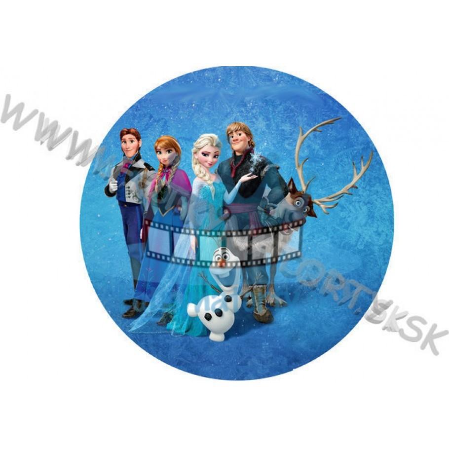 Ľadové kráľovstvo (Frozen) okrúhla
