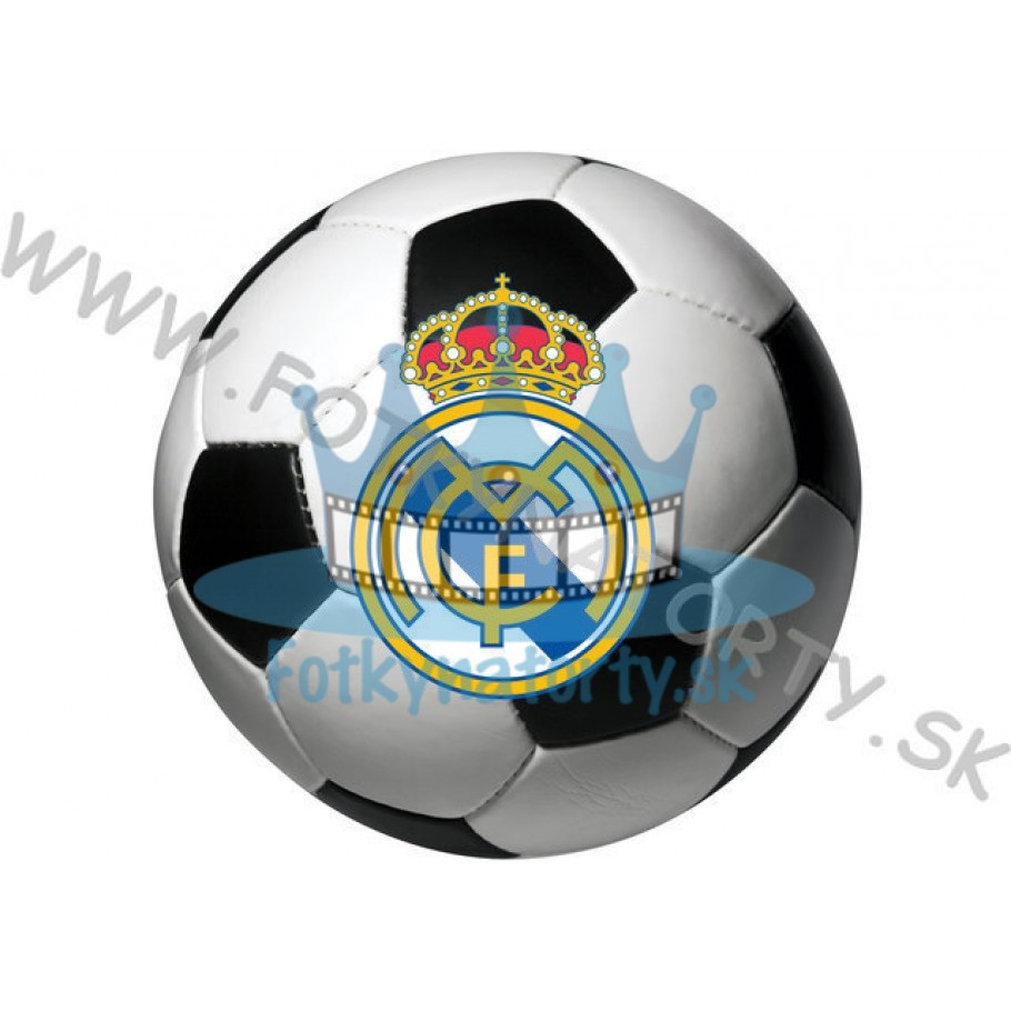Logo FC Real Madrid lopta okrúhla