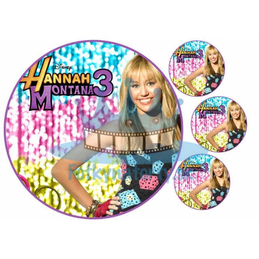 Hannah Montana - jedlý obrázok/ oblátka na tortu/ Fotky na Torty / Jedlé obrázky / oblátka / oplátka / jedlá tlač
