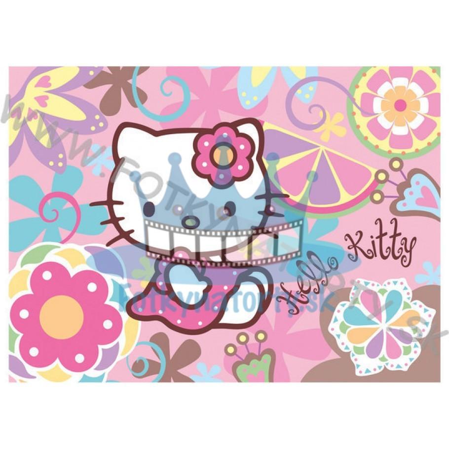 Hello Kitty - jedlý obrázok / oblátka na tortu