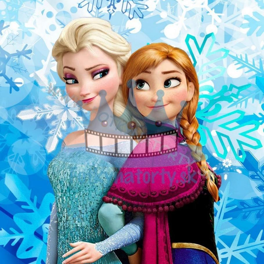 Elsa a Anna Frozen ľadové kráľovstvo - jedlá tortová oblátka / na tortu / jedlý tortový obrázok/ Fotky na torty