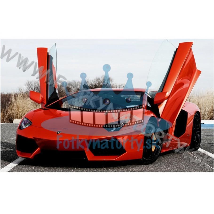 Lamborghini Aventador - jedlý obrázok/ oblátka na tortu / Fotky na Torty