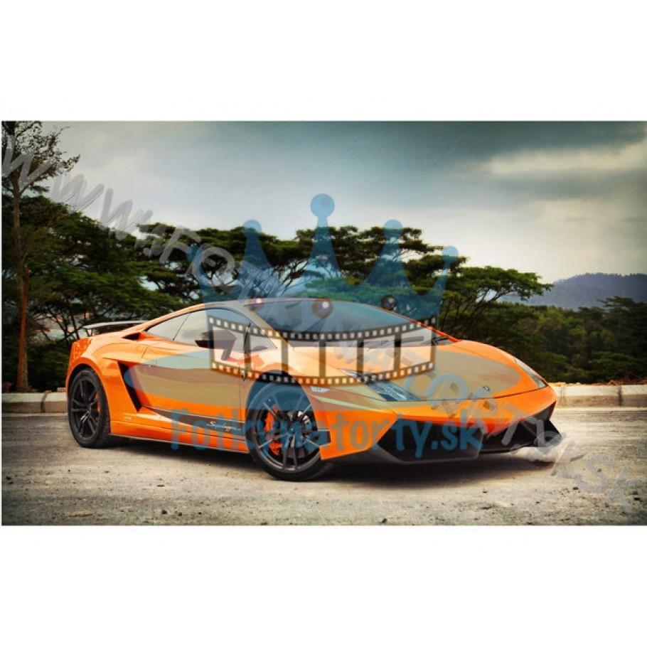 Lamborghini Gallardo  - jedlý obrázok/ oblátka na tortu