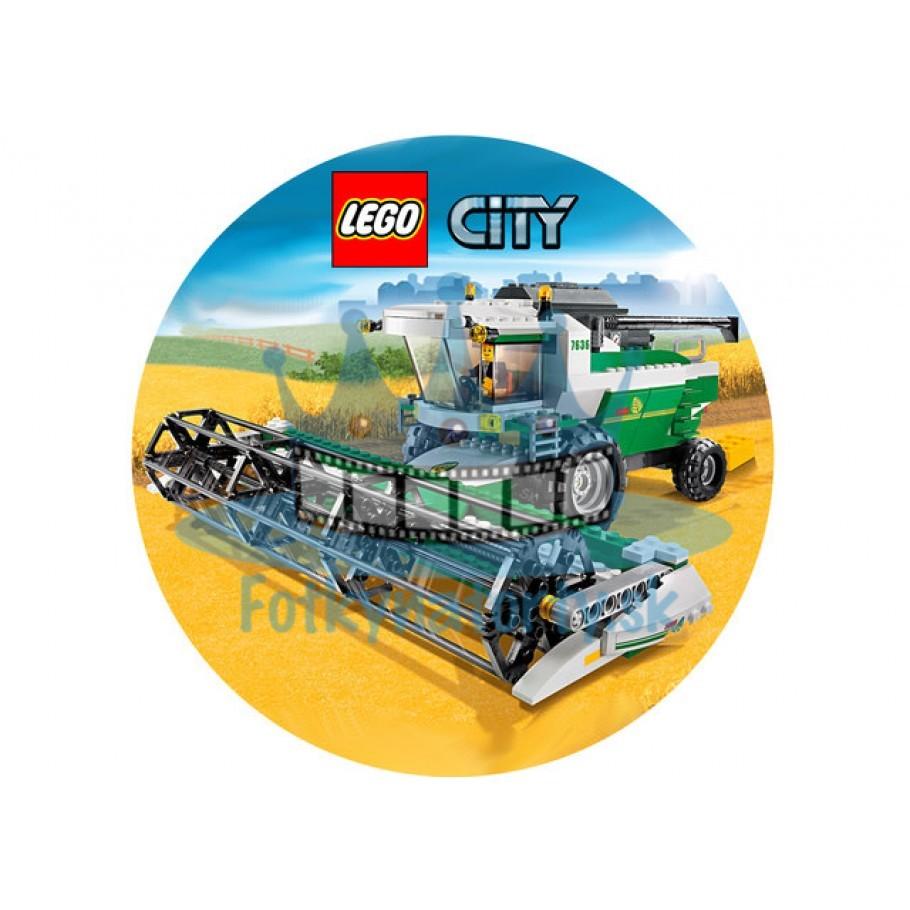 Lego City Farmár KRUH - jedlý obrázok / oblátka na tortu / Fotky na Torty