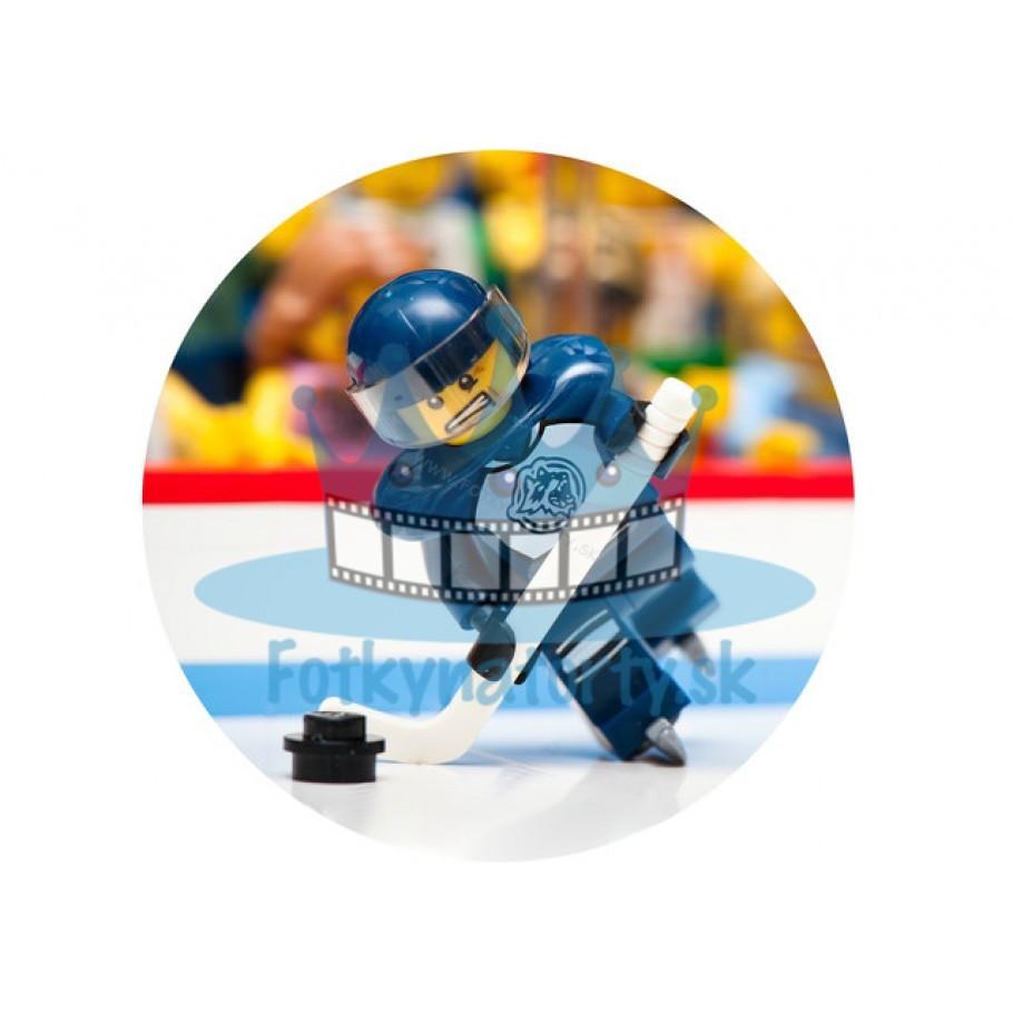 Lego Hokejista kruh - jedlý obrázok / oblátka na tortu / Fotky na torty