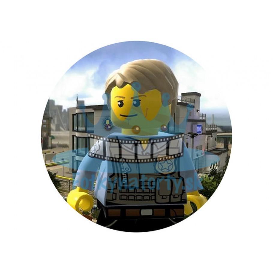 Lego City Policajti KRUH - jedlý obrázok / oblátka na tortu / Fotky na torty