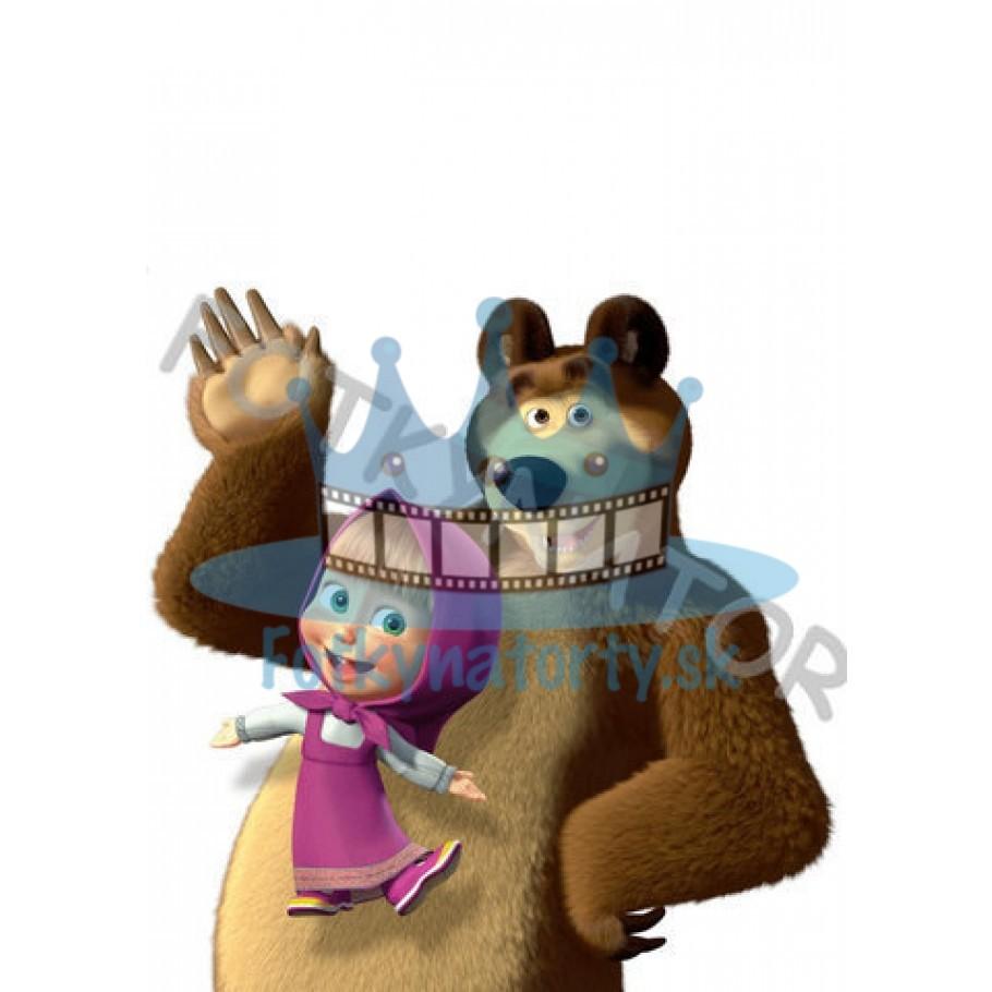 Máša a medveď I. - jedlý obrázok/ oblátka na tortu / Fotky na torty