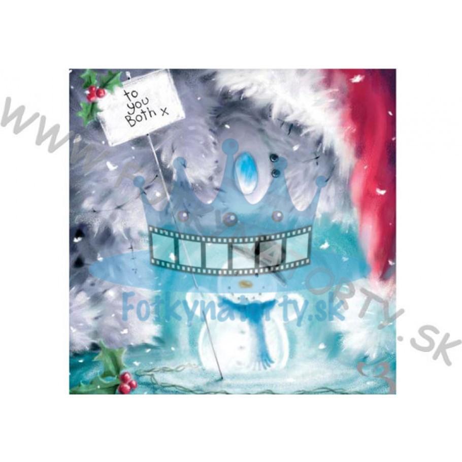 Vianočná oblátka na tortu IV. - jedlý obrázok